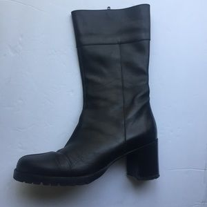 J. Crew Black Leather Boots Sz 7.5
